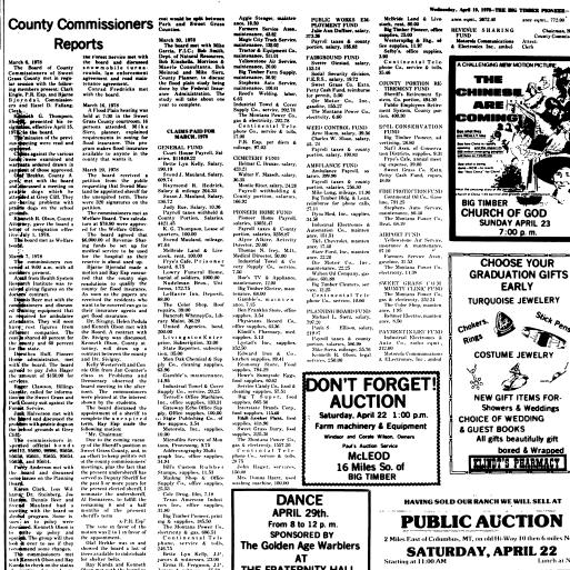 The Pioneer (Big Timber, Mont ) 1975-1982, April 19, 1978, Page 9