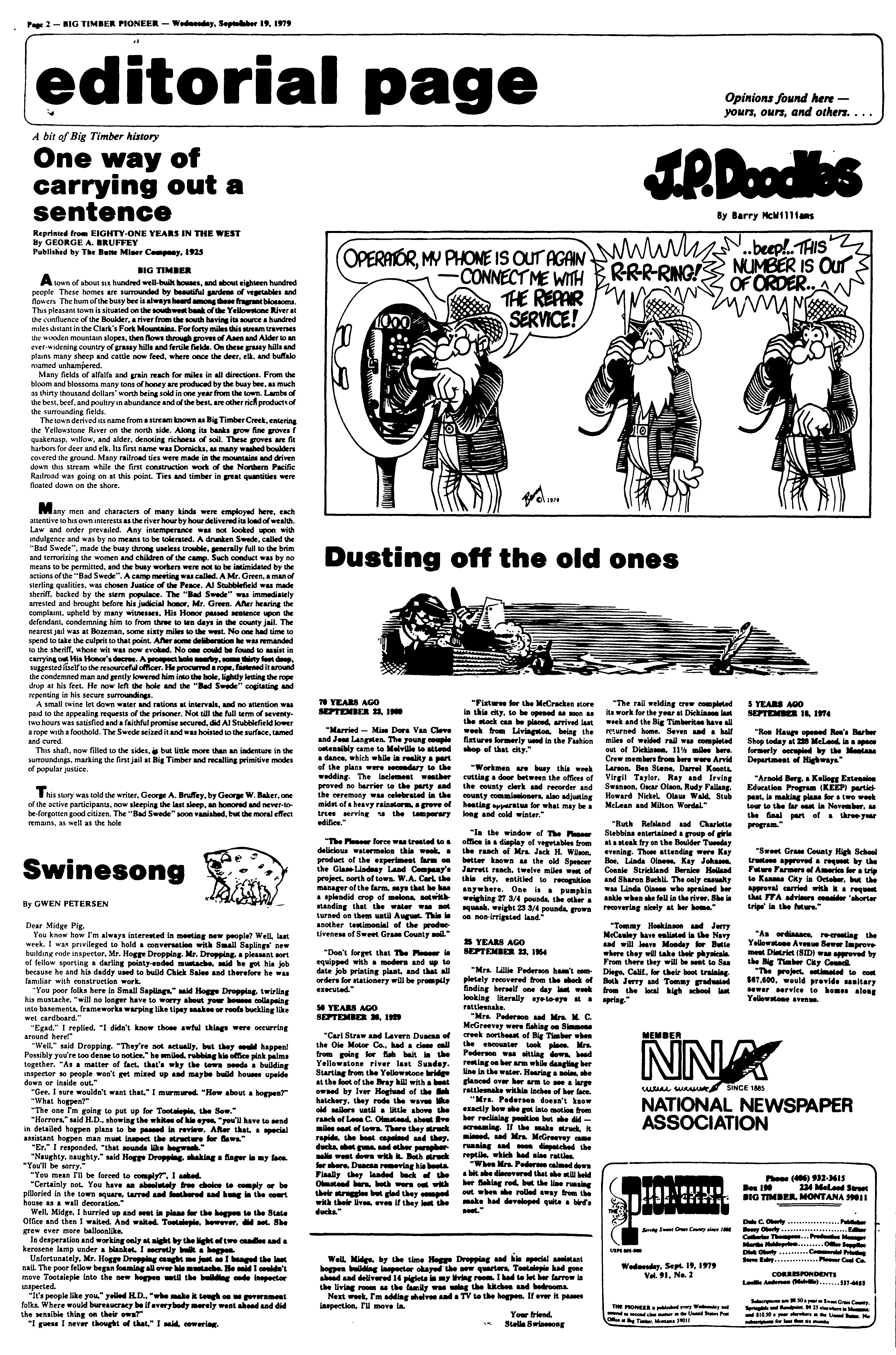 The Pioneer (Big Timber, Mont ) 1975-1982, September 19