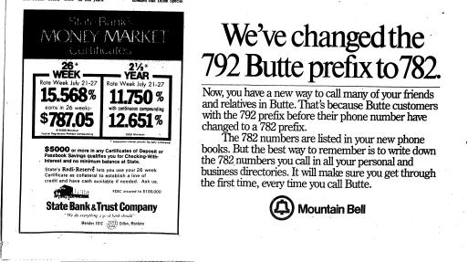 Tribune Examiner Dillon Mont 1973 1982 July 21 1981